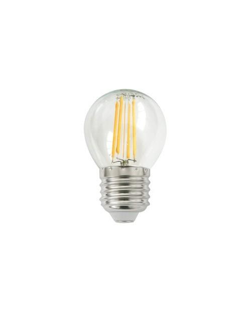 Bombilla LED Filamento G45 4W E-27 2700K Cálida