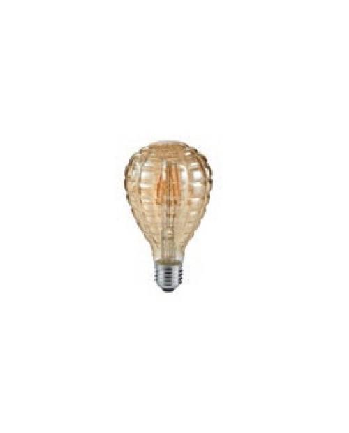 Bombilla LED Filamento 4W E27 2700K Ovalada Decorativa Trio