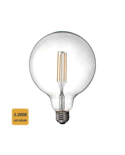 Bombilla LED Filamento Globo 6W E27 3200K