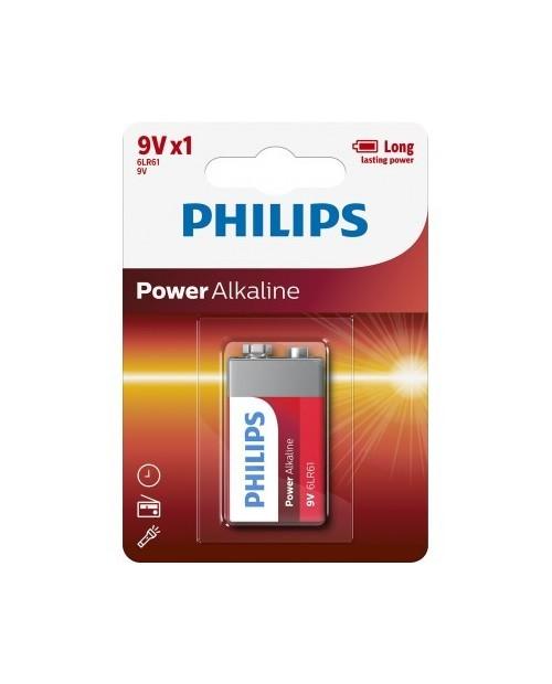 Pila Alkalina 9V 1und Philips.
