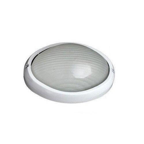 Aplique Semiovalado Aluminio Blanco E27