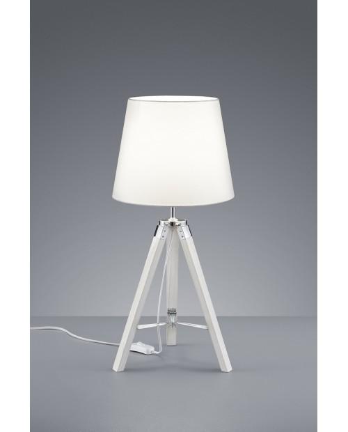 Lámpara de Mesa con Trípode Modelo Tripod Blanco Apagado.