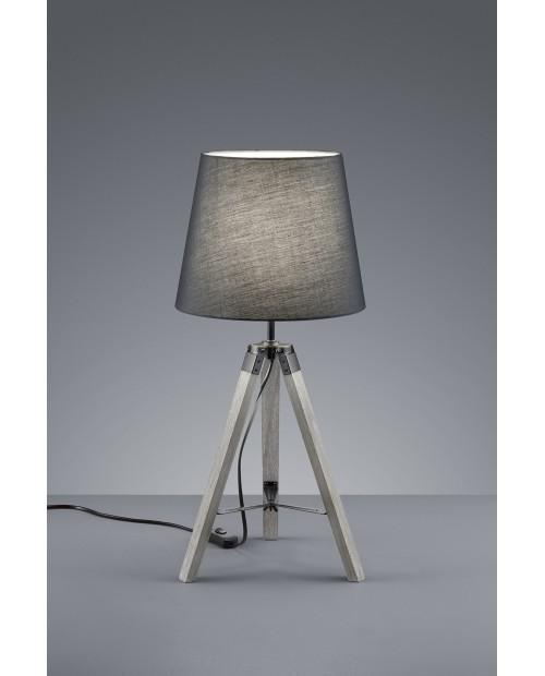 Lámpara De Mesa Modelo Tripod Gris.