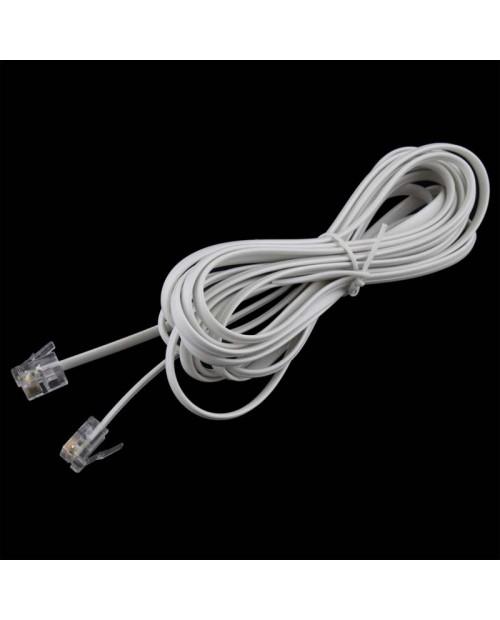 Cable 2 Machos 4.5m Blanco