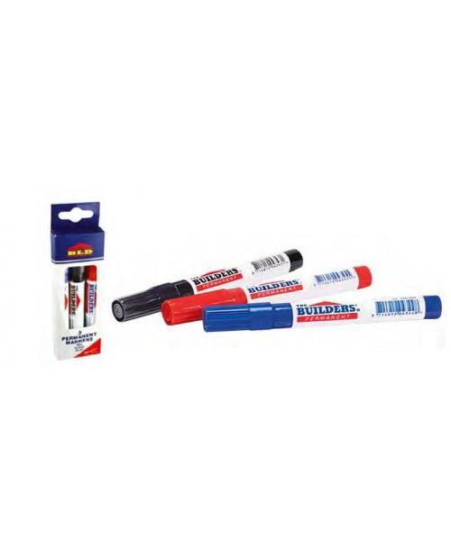 Pack De 3 Rotuladores Permanentes 2mm De Punta. Rojo, Azul y Negro.