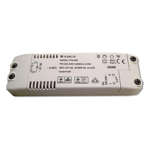 Transformador Electrónico 230V- 12V 60W