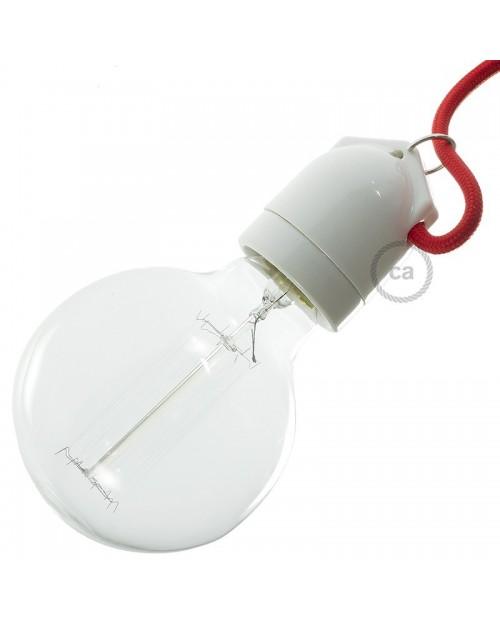 Portalámparas Porcelana E27 Blanco