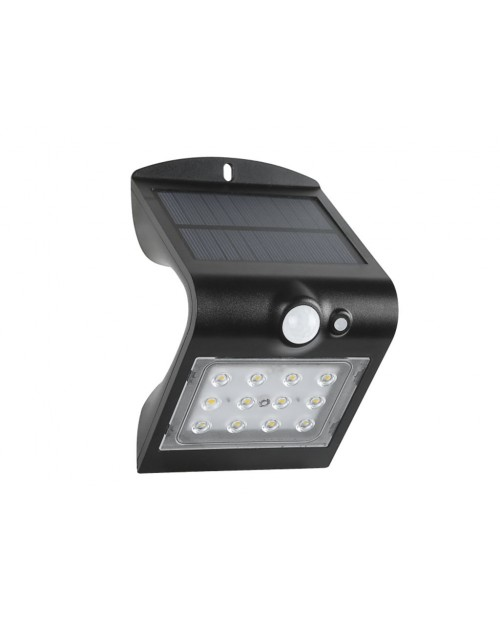 Aplique Solar  Sensor 1.5W Negro