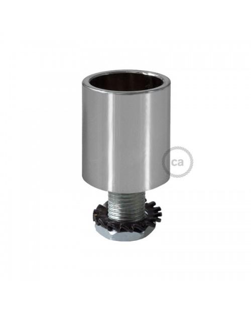 Racor Metal Cromo Tubo-Textil 16mm