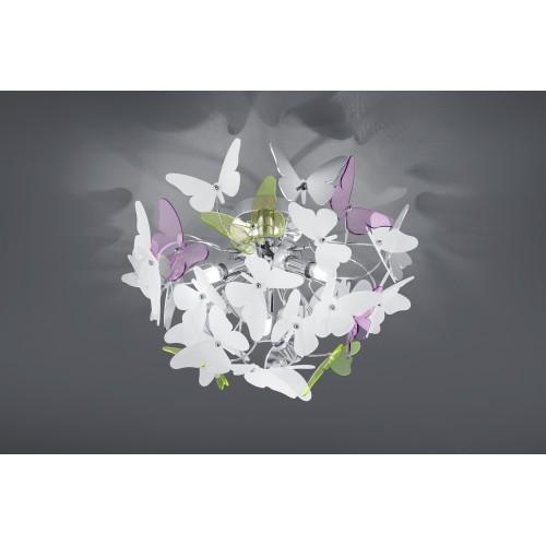 Plafón Butterfly 3xG9 Metal Multicolor