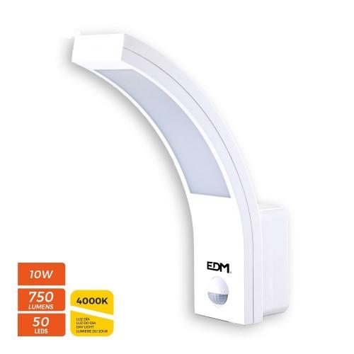 Aplique Led Exterior 10W 4000K Sensor Blanco