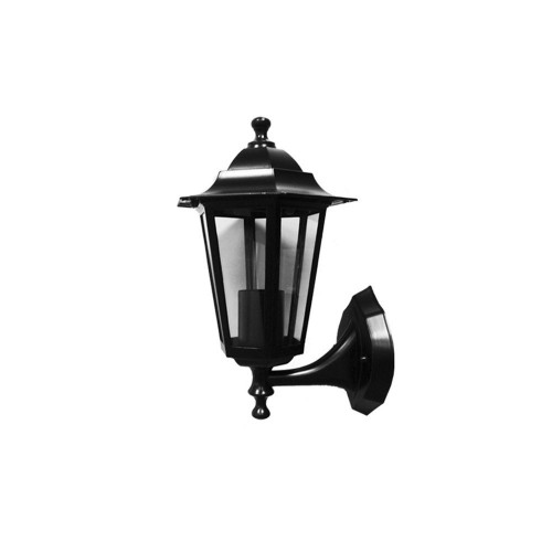 Aplique Farol Pared UP Alum Negro E27 IP44