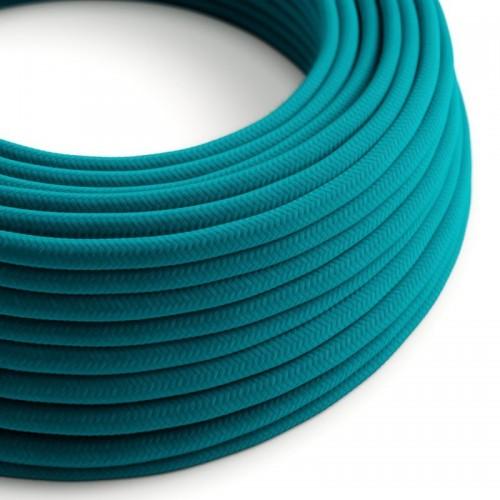 Cable Eléctrico Redondo Color Azul Cielo RC21 Algodón