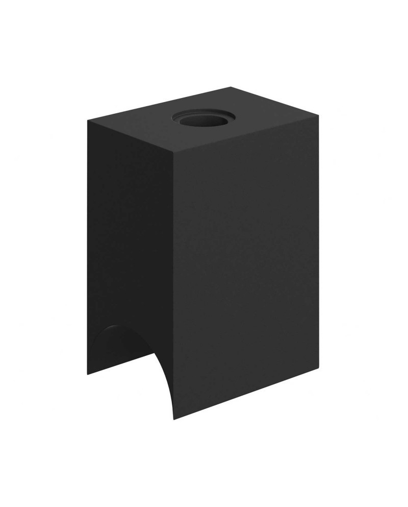 Portalámparas termoplástico minimal negro para bombillas tubo S14d