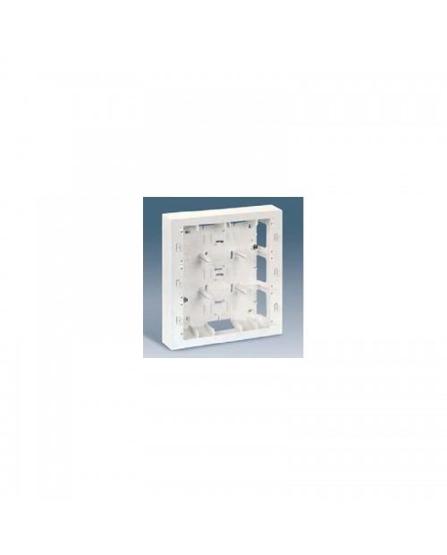 Caja de superficie 3 filas blanca Simon 27