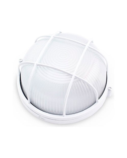 Aplique Redondo Rejilla Aluminio Blanco E27
