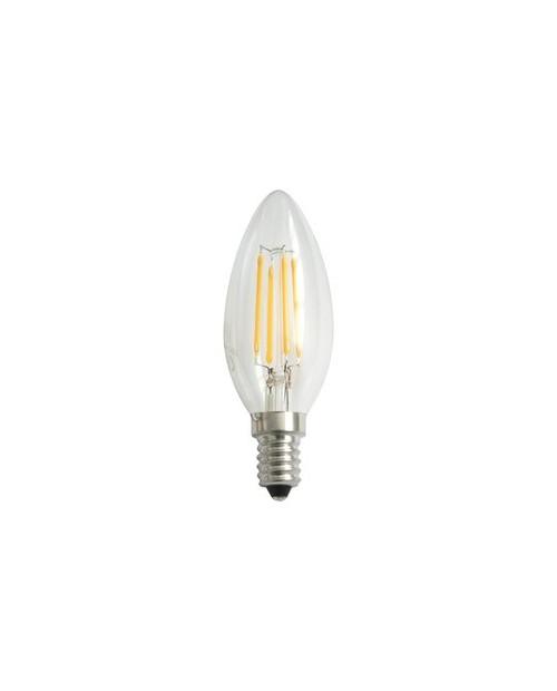 Bombilla LED Filamento Vela 4W E-14  Cálida
